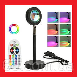 Лампа LED для селфи ефект сонця RGB + пульт (F-20) 23см