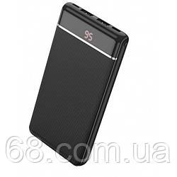 Зовнішній акумулятор Power bank HOCO J59 10000 Mah батарея зарядка Чорний