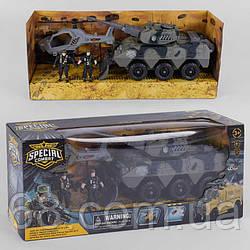 Військовий набір D 3109-44 (12) 4 елемента, вертоліт, танк, 2 солдата, в коробці
