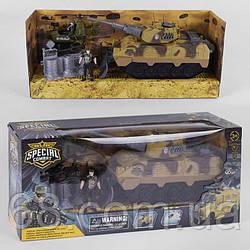Військовий набір D 3109-43 (12) 5 елементів, вертоліт, танк, 2 солдата, аксесуар, в коробці