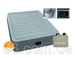 Intex Велюр матрас 67766 NP (3) одноместный, со встроенным насосом 220V, размер 191х99х33см