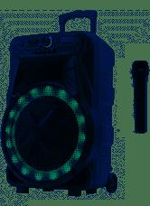 Акустическая система Goldteller GT-6025 | Колонка чемодан Bluetooth караоке