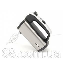 Ручний кухонний міксер Domotec A-PLUS 1558 5 швидкостей насадки 400Вт Сірий