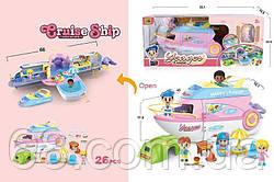 Корабль 6613-1 A (8) герой, катер, мебель, аксессуары, в коробке