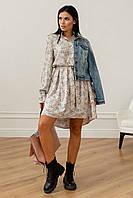 Нежное свободное платье Флори длиной выше колена 42-56 размер разные цвета