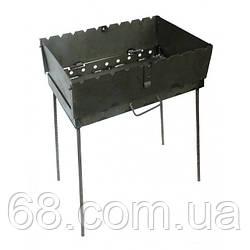 Раскладной мангал чемодан 2 мм на 8 шампуров толщина 2 мм
