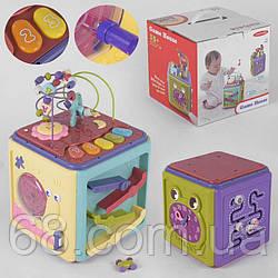 Логічний Куб 01522 (6) звукові та світлові ефекти, мелодії, в коробці