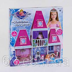 Домик кукольный 6990 (6) 2 этажа, 4 комнаты, мебель, высота 100 см, в коробке