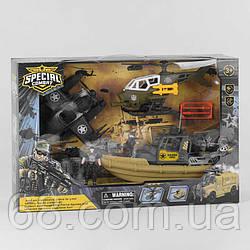 Військовий набір D 3109-35 (9) 8 елементів, судно, вертоліт запускач, винищувач, 2 пластикових патрона, 2