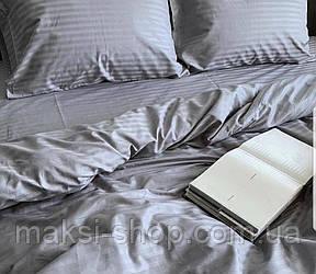 Двуспальный комплект постельного белья страйп-сатин Bona Vita T-0285
