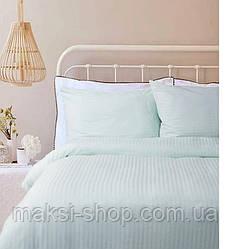 Двуспальный комплект постельного белья страйп-сатин Bona Vita T-0284