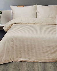 Двуспальный комплект постельного белья страйп-сатин Bona Vita T-0283