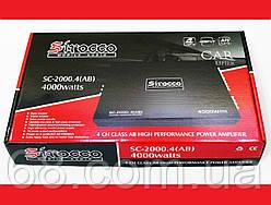 Автомобильный усилитель звука Sirocco SC-2000.4 2000W 4-х канальный