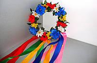 Український вінок з квітами