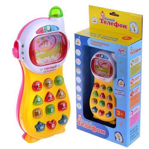 Розумний телефон (жовто-рожевий) 7028