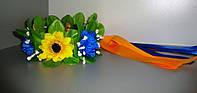 Обруч з квітами та лєнтами