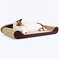 Кігтеточка дряпка лежанка з картону для кішок Avko ACS014 царапка, точилка картонна