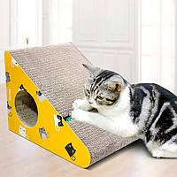 Кігтеточка дряпка лежанка з картону для кішок Avko ACS016-YE царапка, точилка картонна