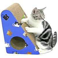 Кігтеточка дряпка лежанка з картону для кішок Avko ACS016-BL царапка, точилка картонна