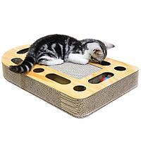 Кігтеточка дряпка лежанка з картону для кішок Avko ACS017 царапка, точилка картонна