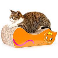 Кігтеточка дряпка лежанка з картону для кішок Avko ACS020 царапка, точилка картонна