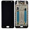 Дисплей (экран) для Asus ZenFone 4 Selfie ZD553KL + тачскрин, черный, с передней панелью