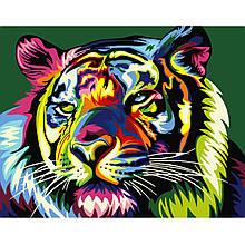 Картина по Номерам Красочный тигр 40х50см Strateg