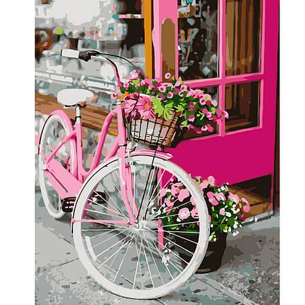 Картина за Номерами Квітковий велосипед 40х50см Starteg в коробці, фото 2