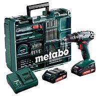 Аккумуляторный шуруповерт Metabo BS 18 Mobile Workshop + 2 акб 18 V 2 Ah + з/у + кейс + оснастка (602207880)