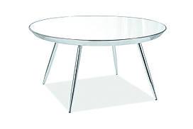 Журнальний стіл Bora B 76х76 Дзеркало / Хром