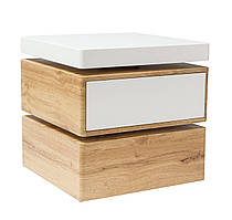 Журнальний стіл Rita 50х50х50 Білий / Дуб