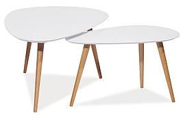 Журнальний стіл Nolan B 115х66 Білий / Бук