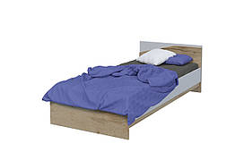 Ліжко Unity L 90x200 Дуб Тахо/Біла Аляска