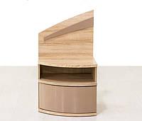Тумба приліжкова Мебель Сервіс Аляска (2шт.) 50×88,1×40,3 дуб самоа, фото 1