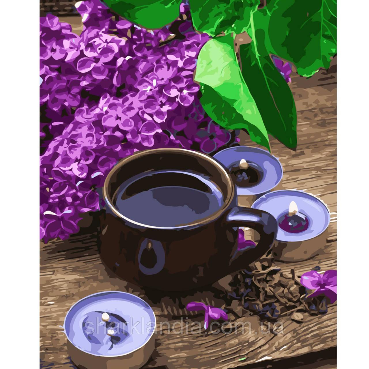 Картина по номерам Кофе с серенью 40х50см Strateg Раскраска по цифрам