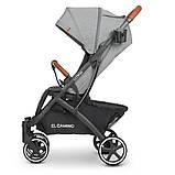 Дитяча коляска-прогулянка з москітною сіткою і сумкою для перевезення «EL CAMINO» ME 1090L LOONA Gray, сірий, фото 3