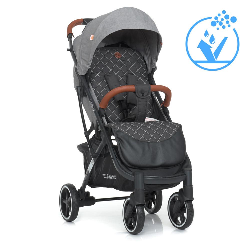 Дитяча коляска-прогулянка з москітною сіткою і сумкою для перевезення «EL CAMINO» ME 1090L LOONA Gray, сірий