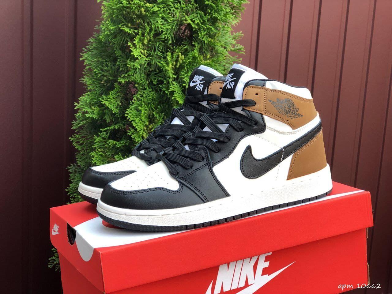 Кроссовки мужские демисезонные черно-белые Nike