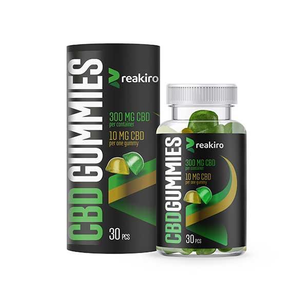 Желейні цукерки КБД CBD Gummies Reakiro Medic 300 мг 30 шт Apple & Lemon