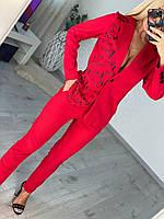 Женский классический костюм с брюками и пиджаком, фото 1