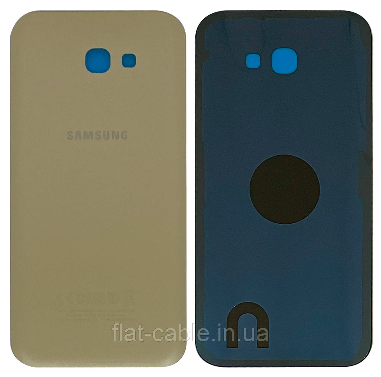 Кришка задня Samsung A720F Galaxy A7 (2017) Золотитстый