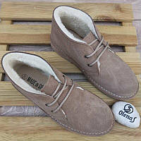 Брендовые замшевые ботинки дезерты на натуральной овчине, Испания оригинал