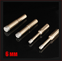 Сверло алмазное по керамограниту 6 мм спеченный алмаз с парафином Craft
