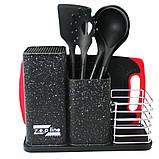 Набір кухонного приладдя та ножів з підставкою 14 предметів Zepline ZP 045, фото 2
