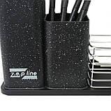 Набір кухонного приладдя та ножів з підставкою 14 предметів Zepline ZP 045, фото 3