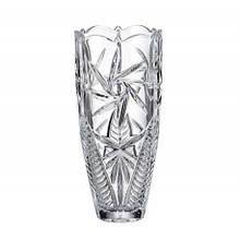 Ваза для цветов Bohemia Pinwheell h30 см богемское стекло, Ваза из хрусталя, Хрустальная ваза для цветов 30 см