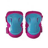Защита детская для роликов и велосипеда Наколенники и налокотники Перчатки HYPRO (HP-SP-B004) Розовый S, фото 2