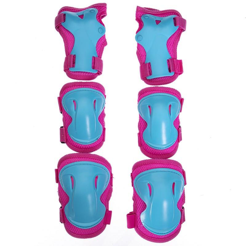 Защита детская для роликов и велосипеда Наколенники и налокотники Перчатки HYPRO (HP-SP-B004) Розовый S