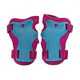Защита детская для роликов и велосипеда Наколенники и налокотники Перчатки HYPRO (HP-SP-B004) Розовый S, фото 4