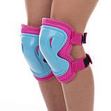 Защита детская для роликов и велосипеда Наколенники и налокотники Перчатки HYPRO (HP-SP-B004) Розовый S, фото 6